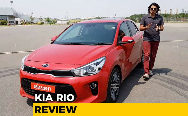 Kia Rio Hatchback Driven In India