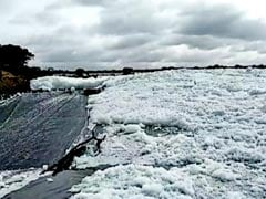 Residents Fume As Toxic Froth Builds Up In Lake Near Bengaluru