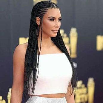 Yet Again, Kim Kardashian Wears Controversial Cornrow Braids