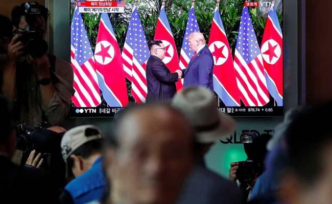 kim trump summit seoul tv