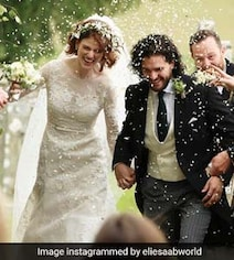 Fan Hid In Bushes To Capture Kit Harington-Rose Leslie Wedding. For Real