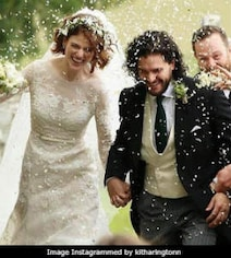 Dreamy Pics From Kit And Rose's Wedding. A Game Of Thrones Reunion