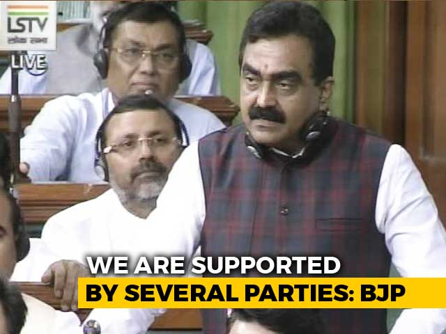 Video : BJP's 'Schemes vs Scams' Dig At Congress In No-Trust Debate