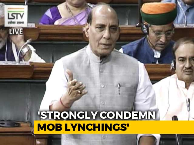 Video : Rajnath Singh's Statement In Parliament On Mob killings