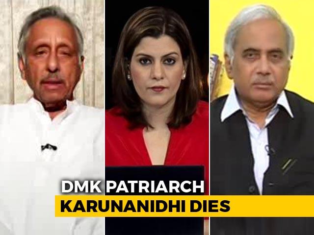 Video : After M Karunanidhi's Death, Politics Over His Memorial