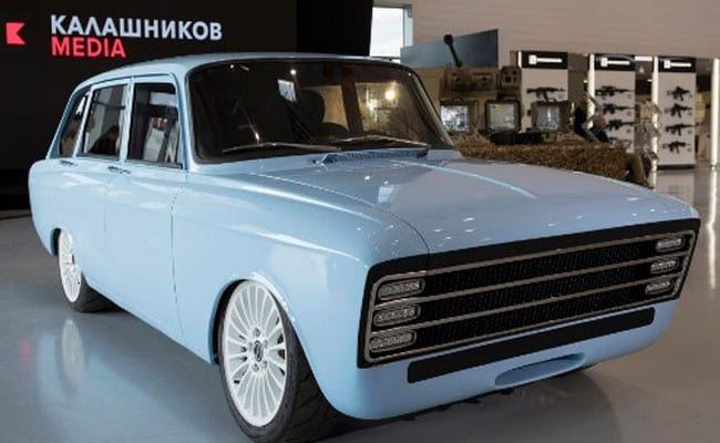 Russian arms maker Kalashnikov unveils Tesla-fighting retro electric auto