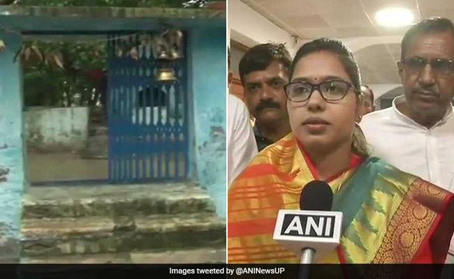 BJP MLA के प्रवेश के बाद मंदिर को गंगाजल से धुलवाया, मूर्ति 'शुद्ध' करने के लिए इलाहाबाद भेजी