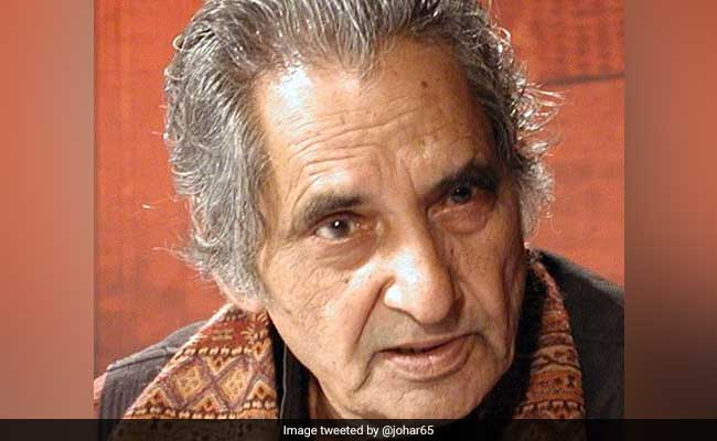 Doyen Of Hindi Poetry Gopal Das Neeraj Dies At 93