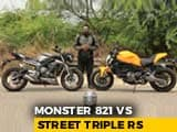 Video : Ducati Monster 821 Vs Triumph Street Triple RS Comparison Review