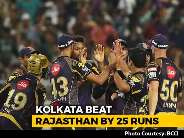 IPL 2018: Kolkata Knight Riders Enter Qualifier 2 With 25-Run Win Over Rajasthan Royals