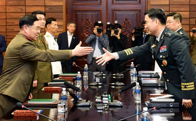 North And South Korea Hold Military Talks Amid US Plan To Stop Drills