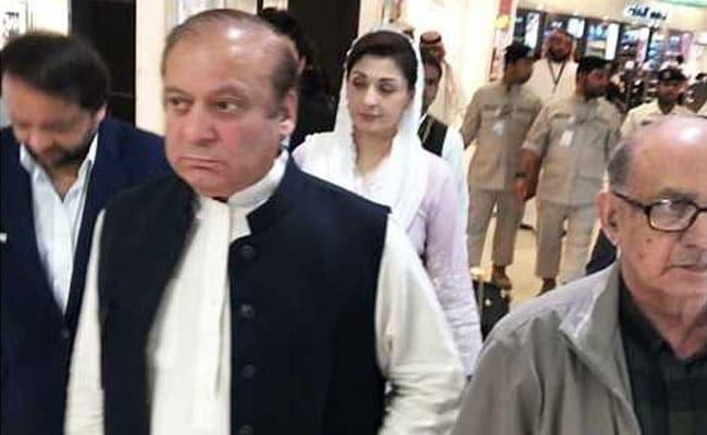 Ex-Pak PM Nawaz Sharif, Daughter In Lahore For Kulsoom Nawaz's Funeral