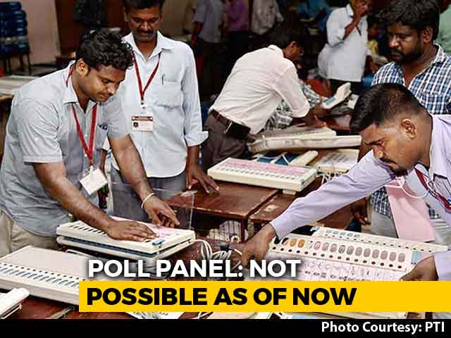 Video : Simultaneous Polls Not Possible Now, Says Election Panel Amid BJP Push