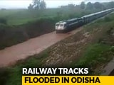 Video : Watch: Train Gets Stuck On Waterlogged Rail Track In Odisha