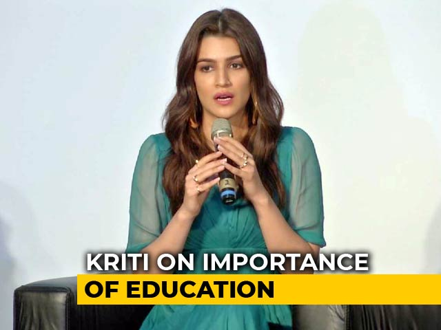 Kriti Sanon On The Importance Of Education