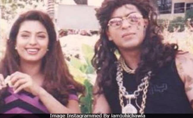 Yes, That's Shah Rukh Khan In Juhi Chawla's Epic Throwback Pic