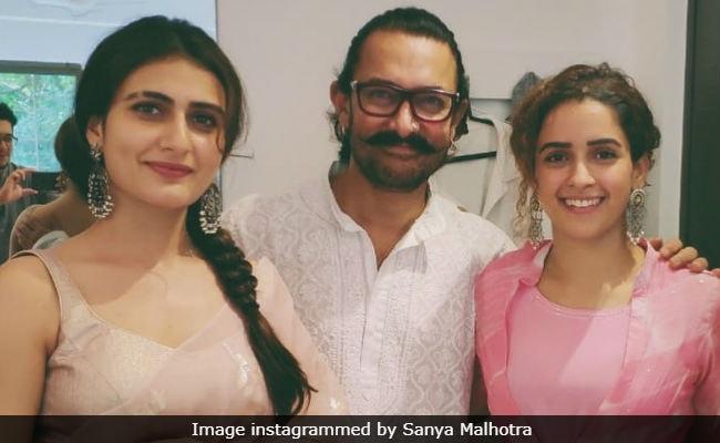Bakra Eid 2018 Aamir Khan Fatima Sana Shaikh And Sanya Malhotras