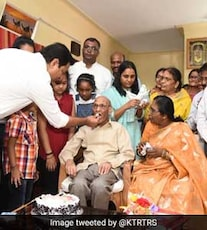 Telangana Minister KT Rama Rao's Surprise For 88-Year-Old Freedom Fighter