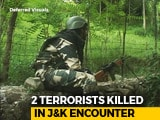 Video : 2 Terrorists Shot Dead In Jammu And Kashmir's Kulgam, 1 Surrenders