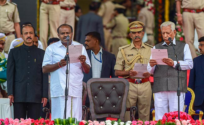 Chief Minister Swearing-In: Historic To See So Many Leaders Come Together, Says HD Kumaraswamy On Oath Ceremony