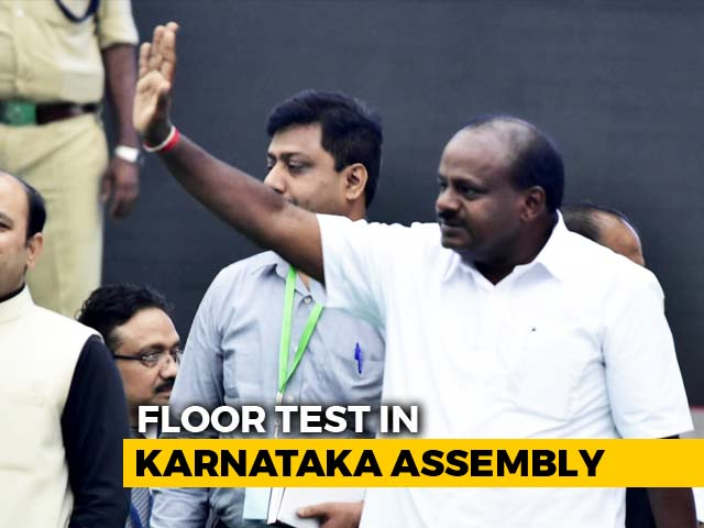 Kumaraswamy's Floor Test Today, BJP In Race For Speaker's Post
