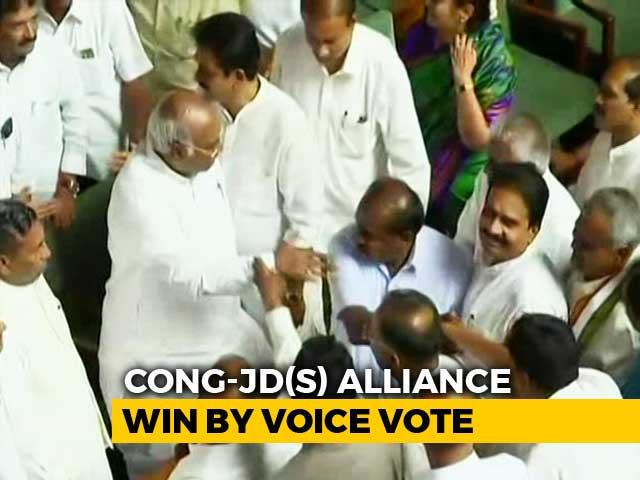 Kumaraswamy Wins Trust Vote After BJP Walks Out Of Karnataka Assembly