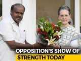 Video : United Colours Of Opposition As Kumaraswamy Is Sworn In Today