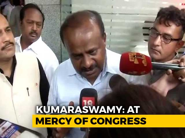 Video : I Am At Congress Mercy, Didn't Get People's Mandate: HD Kumaraswamy