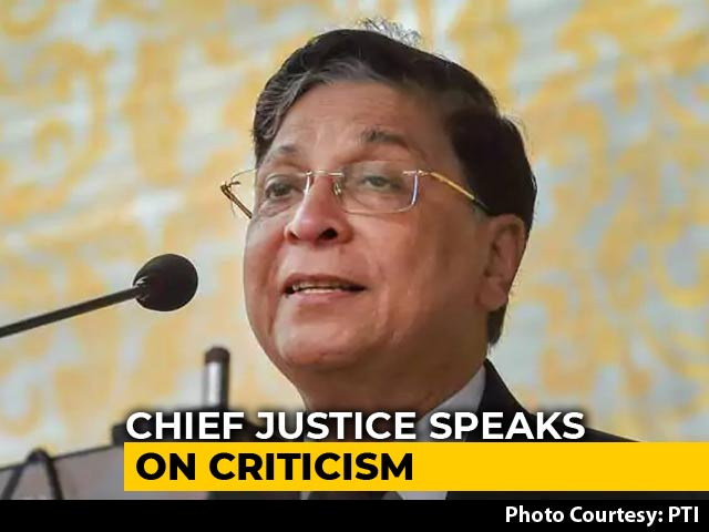 Video : Don't Destroy Or Weaken The System, Transform It: Chief Justice Of India