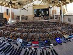 """Police Got Tip About Felon Carrying """"Large Arsenal"""". They Found 553 Guns"""