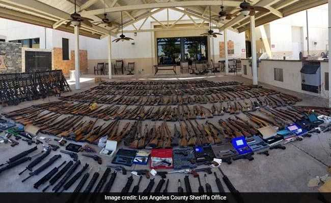 Police Got Tip About Felon Carrying 'Large Arsenal'. They Found 553 Guns