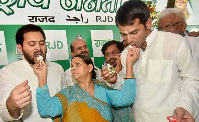Lalu Yadav's Sons Cut His Birthday Cake, Flaunt Unity; He Watches On TV