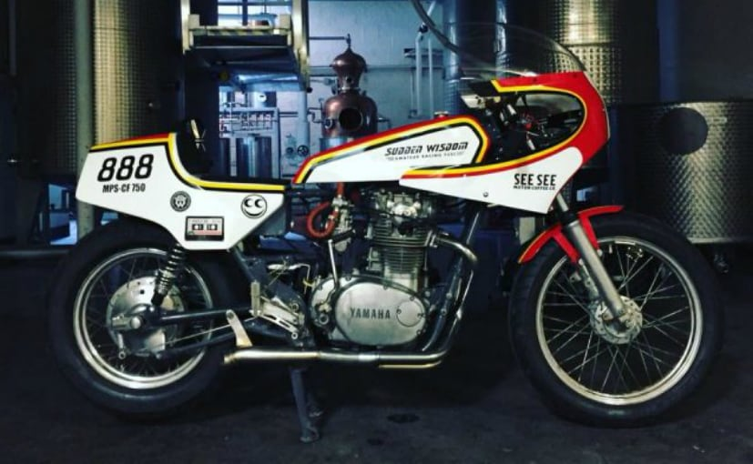 The 1980 Yamaha XS 650 runs on waste products from the vodka distilling process