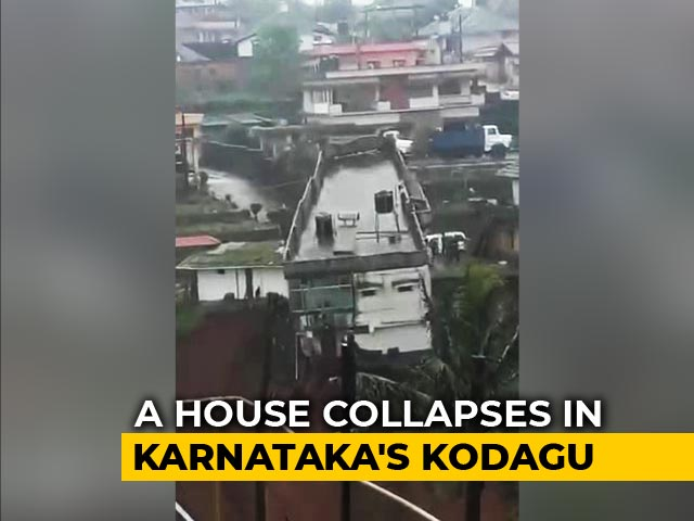 Video : Watch: Dramatic House Collapse After Rain In Karnataka's Kodagu