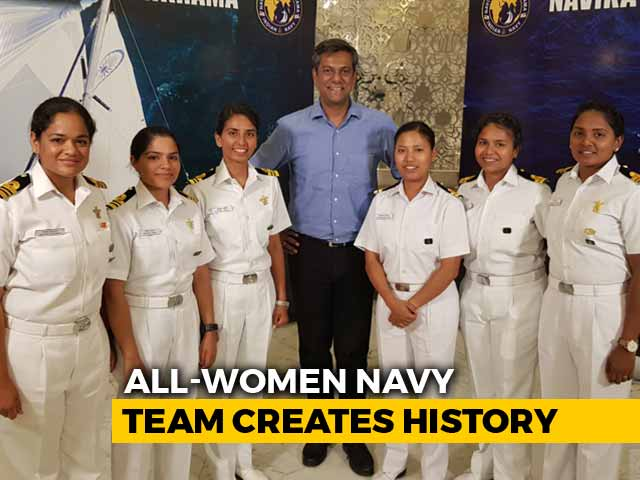 Video : Meet The Navy's All-Women Crew Who Sailed Around The Globe In A Tiny Boat