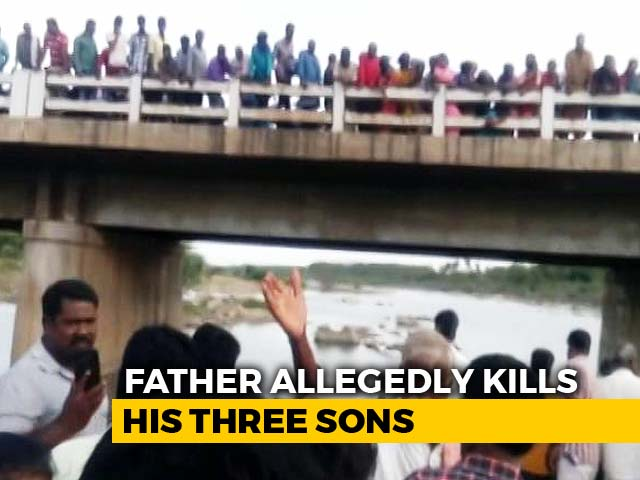 Video : Man Allegedly Threw 3 Sons Into River After Fight With Wife, Bodies Found