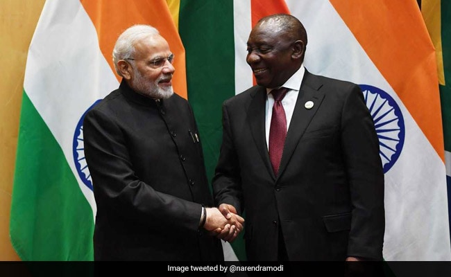 PM Modi, South African President Discuss Ways To Boost Bilateral Ties