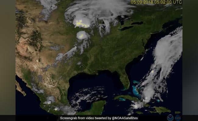 Satellite Captures Footage Of Lightning From Space. It's Stunning