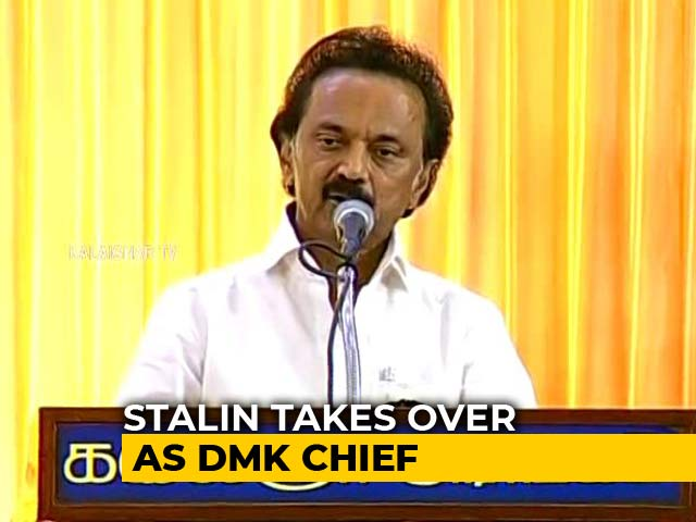 Video : Will Teach Modi Government A Lesson: MK Stalin After Taking Charge Of DMK