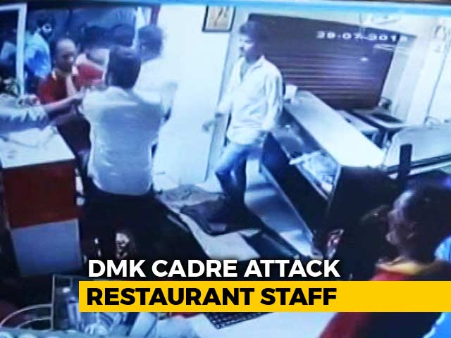 Video : Caught On Camera: DMK Workers Punch, Slap Restaurant Staff Over Food