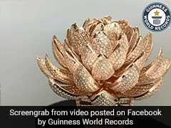 Surat Jewellers Design Lotus-Shaped Ring With 6,690 Diamonds, Set Record