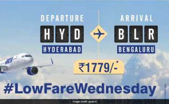 Goair Flight Tickets Low Fare Wednesday Offer Fares From