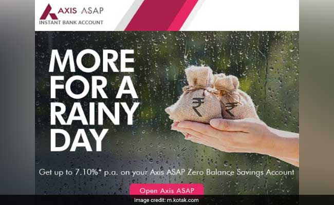 how to open zero balance account in axis bank