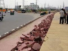पीएम मोदी के उद्धाटन के दो महीने बाद दिल्ली-मेरठ एक्सप्रेस-वे के साइकिल ट्रैक पर आई दरार