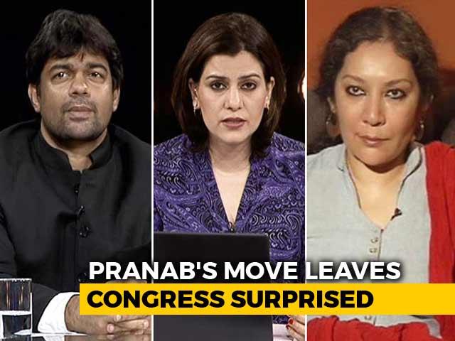 Video : Citizen Pranab Mukherjee Heads To RSS Headquarters
