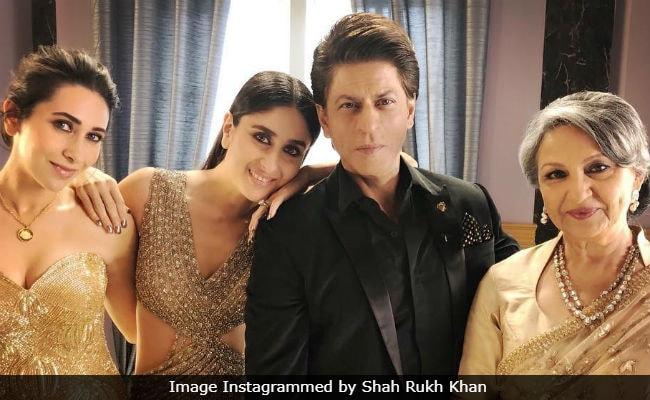 Shah Rukh Khan 'Lovely Evening' Featuring Kareena Kapoor, Karisma And Sharmila Tagore In Pics