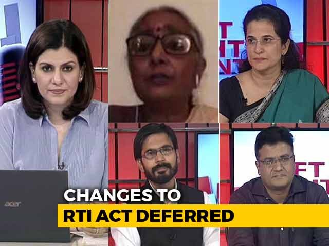 Video : Changes To RTI Bill Deferred