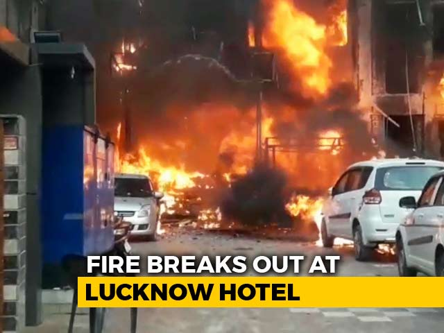 Video : 5 Dead In Major Fire At Hotel In Lucknow