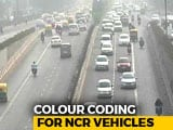 Video : Delhi To Get Colour Codes For Vehicles In Fight Against Pollution