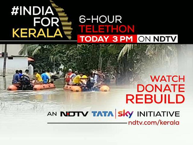 Video: #IndiaForKerala: Special 6-Hour Telethon Today